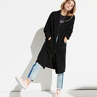 k/lab Tweed Long Cardigan Sweater