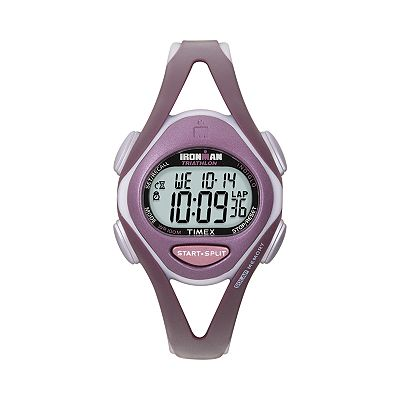 Timex Ironman Triathlon Plum Digital Watch - Women