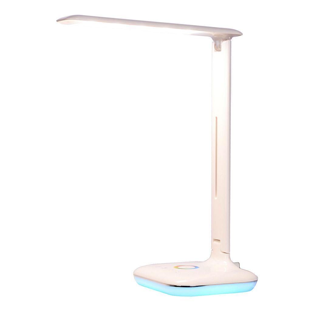 Catalina Lighting Tensor Color-Changing Base LED Desk Lamp