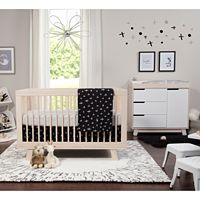 Babyletto Tuxedo Monochrome 5 pc Nursery Crib Bedding Set