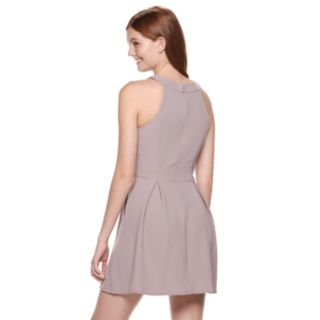 Juniors' Speechless Cutout Fit & Flare Dress