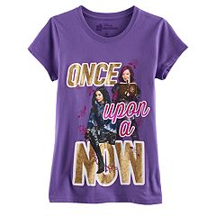 Disney's Descendants Evie & Mal Girls 7-16 'Once Upon a Now' Glitter Graphic Tee