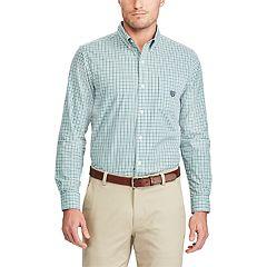 Big & Tall Chaps Regular-Fit Plaid Stretch Button-Down Shirt