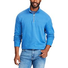 Big & Tall Chaps Regular-Fit Reversible Quarter-Zip Mockneck Pullover