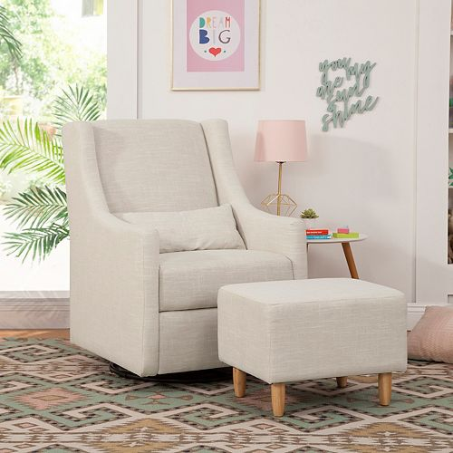 Babyletto Toco Swivel Glider & Stationary Ottoman