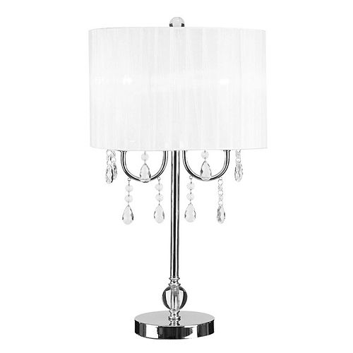 Catalina Lighting Faux Crystal Chandelier Table Lamp