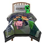 Minecraft Fighting Back Twin / Full Comforter