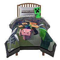 Minecraft Fighting Back Twin / Full Comforter