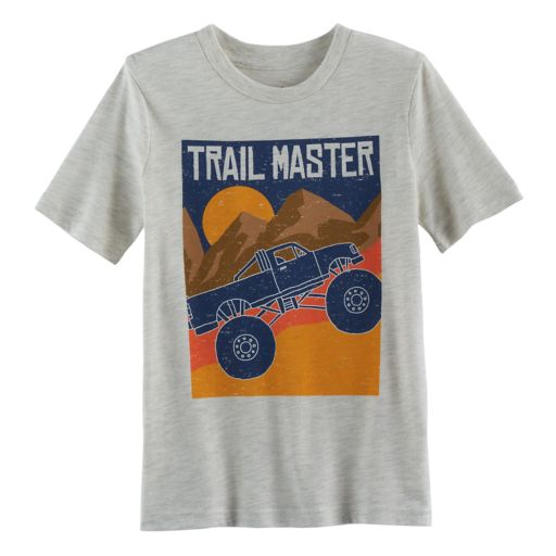 """Boys 4-10 Jumping Beans® """"Trail Master"""" Truck & Mountains Graphic Tee"""