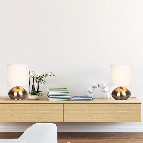 Catalina Lighting Brass Finish Table Lamp 2-piece Set
