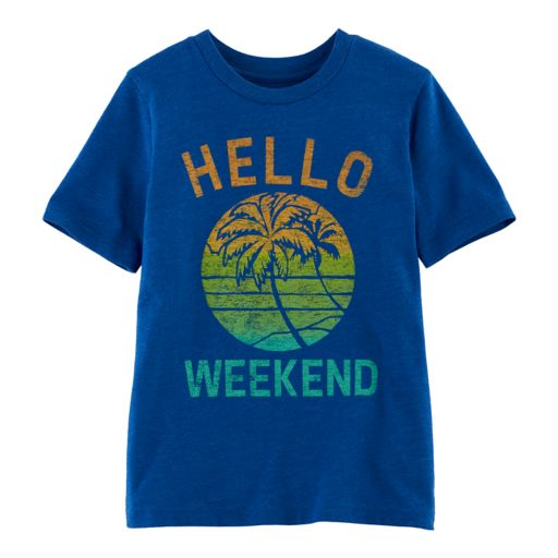 "Boys 4-10 Jumping Beans® ""Hello Weekend"" Palm Trees Graphic Tee"