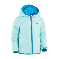 Toddler Girl Under Armour Midweight Blue Premier Puffer Jacket