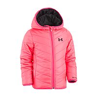 Baby Girl Under Armour Pink Midweight Premier Puffer Jacket