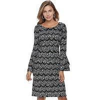 Women's ELLE™ Tiered Scallop Dress