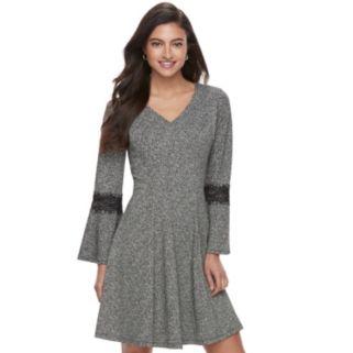 Women's ELLE™ Lace Accent A-Line Dress