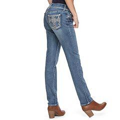 Women's Apt. 9® Embellished Straight-Leg Jeans