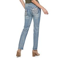 Women's Apt. 9® Embellished Straight-Leg Jeans