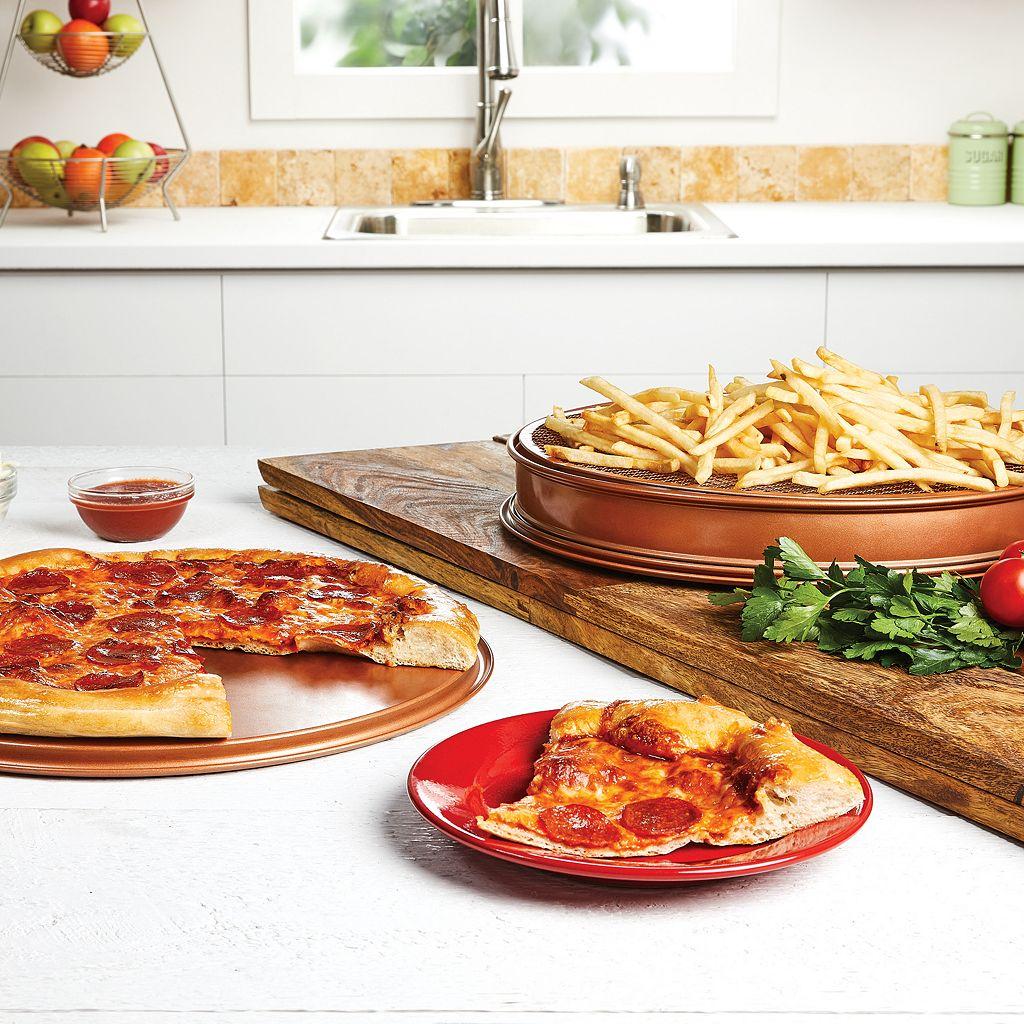 As Seen on TV Copper Chef 12-in. Pizza & Crisper Pan