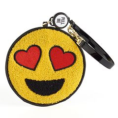 Heart Eyes Emoji Chenille ID Case