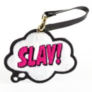"""Slay!"" Thought Bubble Chenille ID Case"