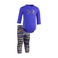 Baby Girl Under Armour Logo Bodysuit & Script Leggings Set