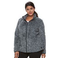 Plus Size FILA SPORT® Bari Sherpa Fleece Full-Zip Jacket