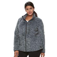 Plus Size Fleece Coats & Jackets | Kohl's