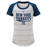 Girls 7-16 Majestic New York Yankees Striped Tee