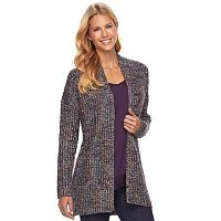 Women's SONOMA Goods for Life™ Textured Metallic Cardigan