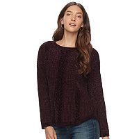Women's SONOMA Goods for Life™ Cable-Knit Chenille Sweater