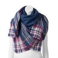 Women's Chaps Plaid Border Square Scarf