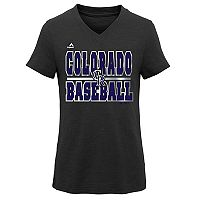 Girls 7-16 Majestic Colorado Rockies On Base Tee