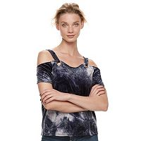 Women's Rock & Republic® Velvet Cold-Shoulder Top