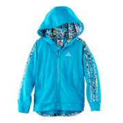Girls 4-6x adidas Hooded Tricot Lightweight Jacket