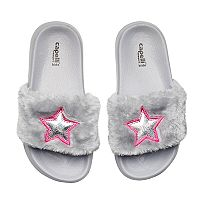 Girls 4-16 Star Slide Sandals