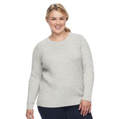 Plus Size Croft & Barrow® Cable Knit Sweater