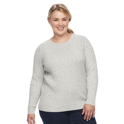 Plus Size Croft Barrow Cable Knit Sweater