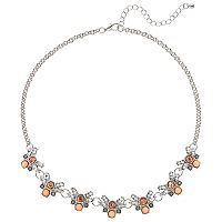 Mudd® Orange Stone Cluster Necklace