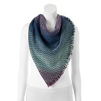 Candie's® Zigzag Ombre Triangle Scarf