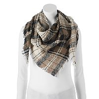 Candie's® Boucle Plaid Triangle Scarf