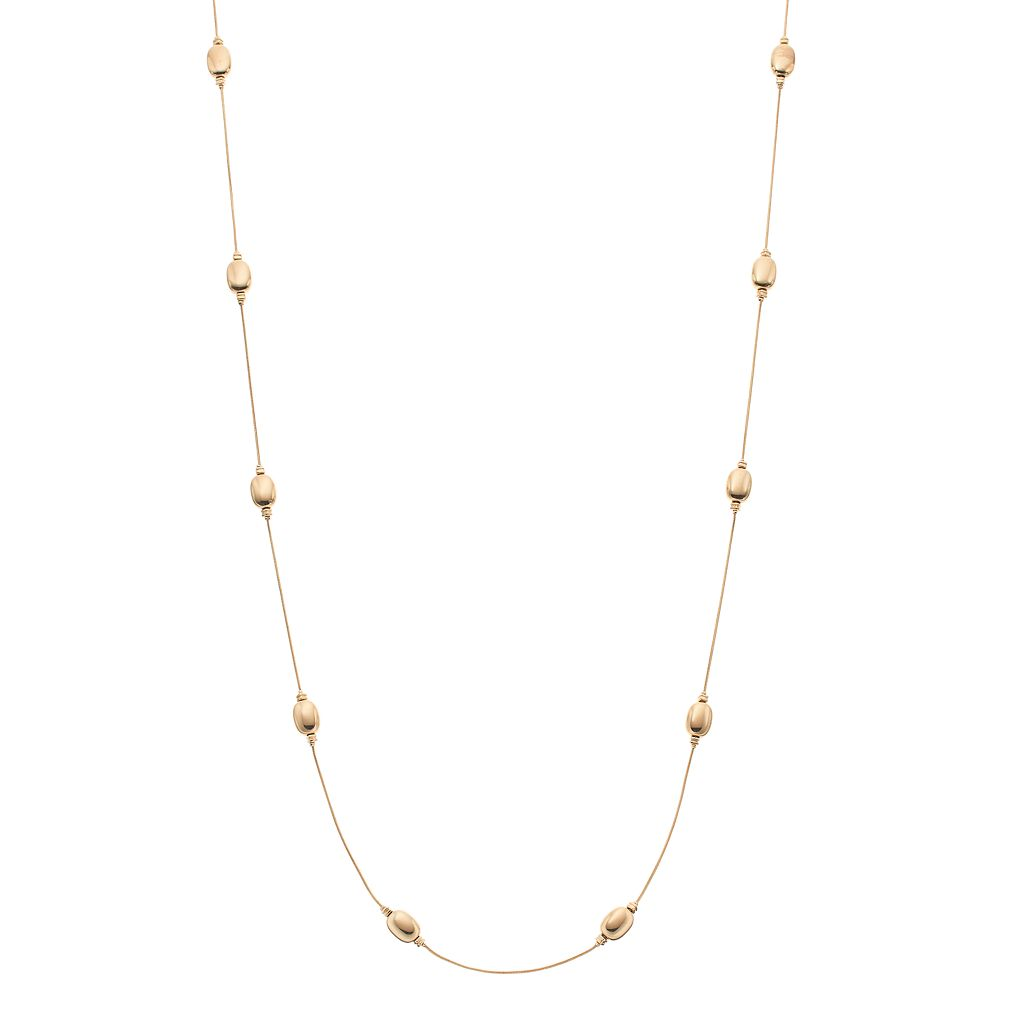 Napier Long Beaded Station Necklace