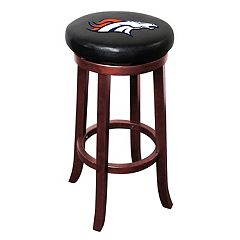 Denver Broncos Wooden Bar Stool