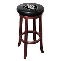 Oakland Raiders Wooden Bar Stool