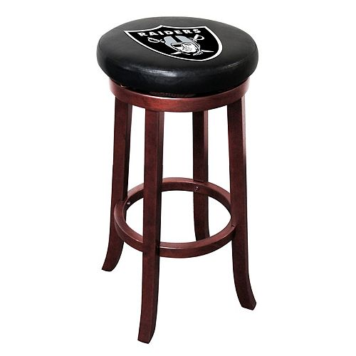 Oakland Raiders Wooden Bar Stool