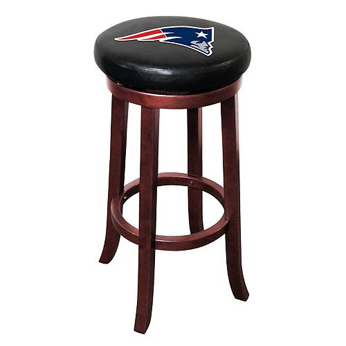 New England Patriots Wooden Bar Stool