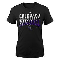Girls 7-16 Majestic Colorado Rockies Team Stripes Tee