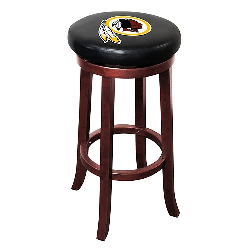 Washington Redskins Wooden Bar Stool