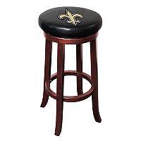 New Orleans Saints Wooden Bar Stool
