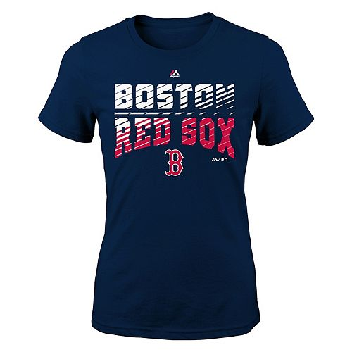 Girls 7-16 Majestic Boston Red Sox Team Stripes Tee