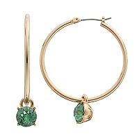 Dana Buchman Stone Drop Nickel Free Hoop Earrings